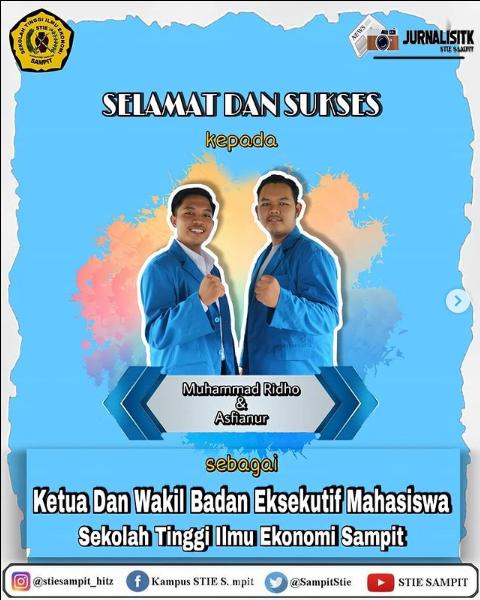 Ketua BEM dan Wakil Ketua BEM STIE Sampit